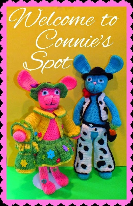 Blossom & Blue Bunny Pattern© By Connie Hughes Designs©