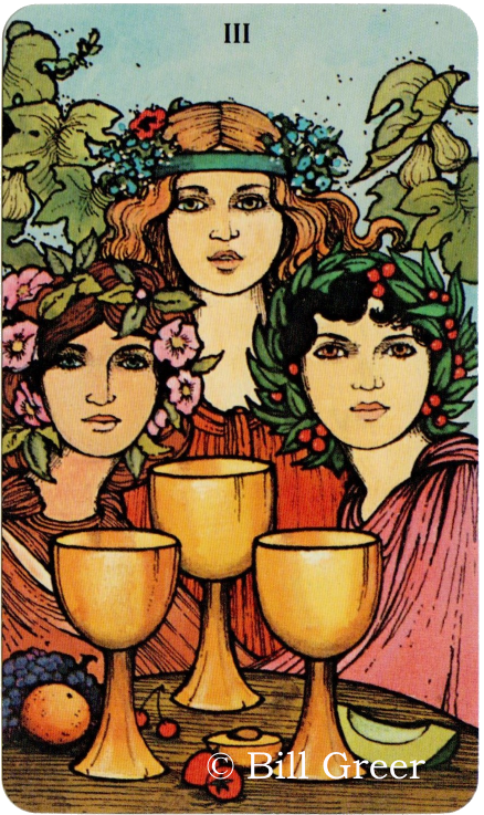 Morgan Greer Tarot, Three of Cups