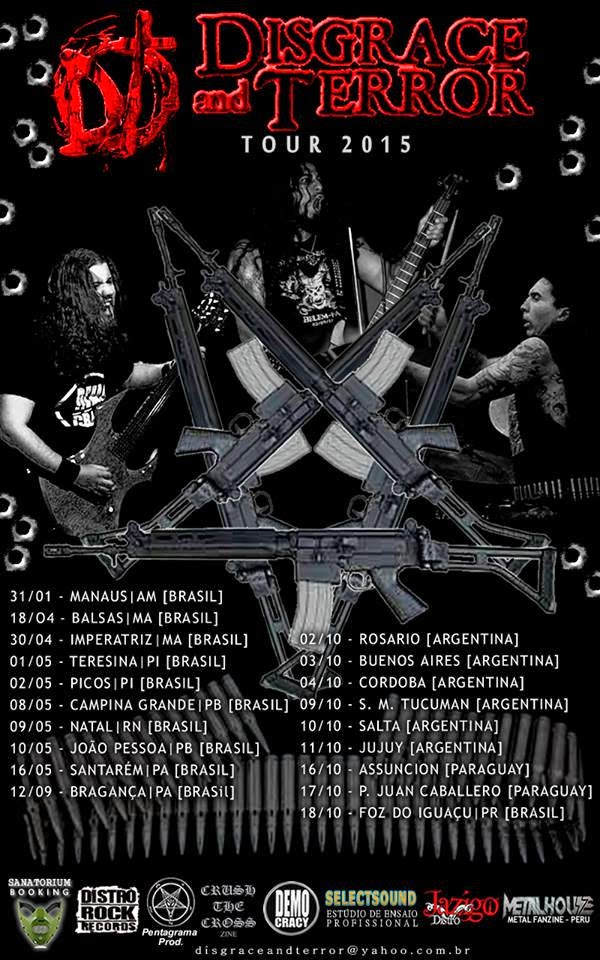 DISGRACE AND TERROR TOUR 2015