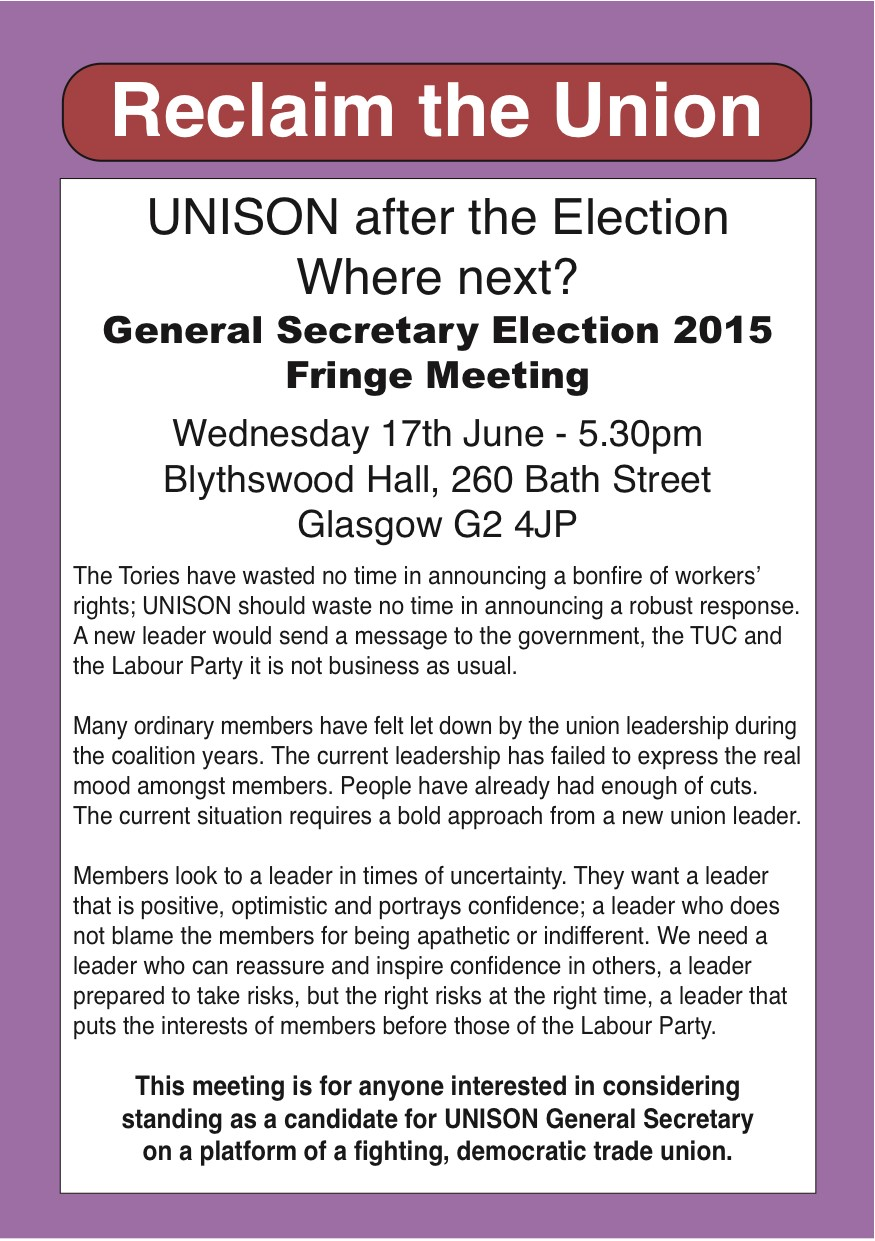Reclaim The Union For A Fighting Democratic Unison