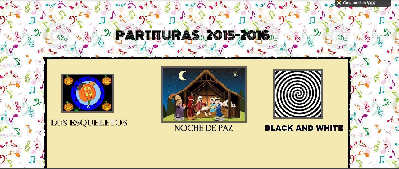 NUEVO LIBRO DE PARTITURAS 2015-2016