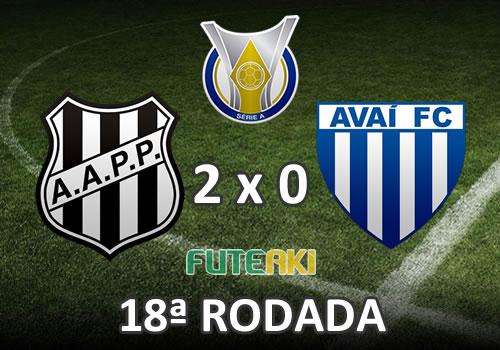 Veja o resumo da partida com os gols e melhores momentos de Ponte Preta 2x0 Avaí pela 18ª rodada do Brasileirão 2015