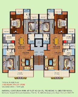 Amrapali Centurian Park :: Floor Plan