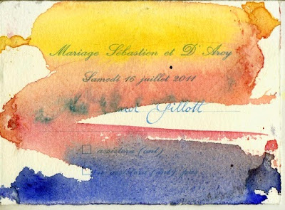 Painted Wedding Invitations