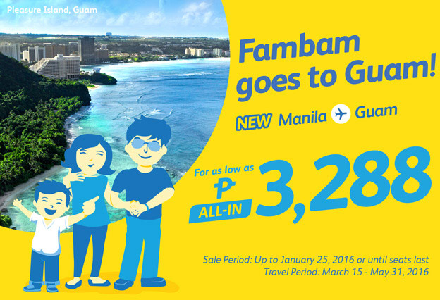Cebu Pacific Manila to Guam Promo 2016
