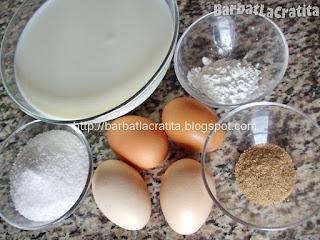 Lapte de pasare ingrediente reteta