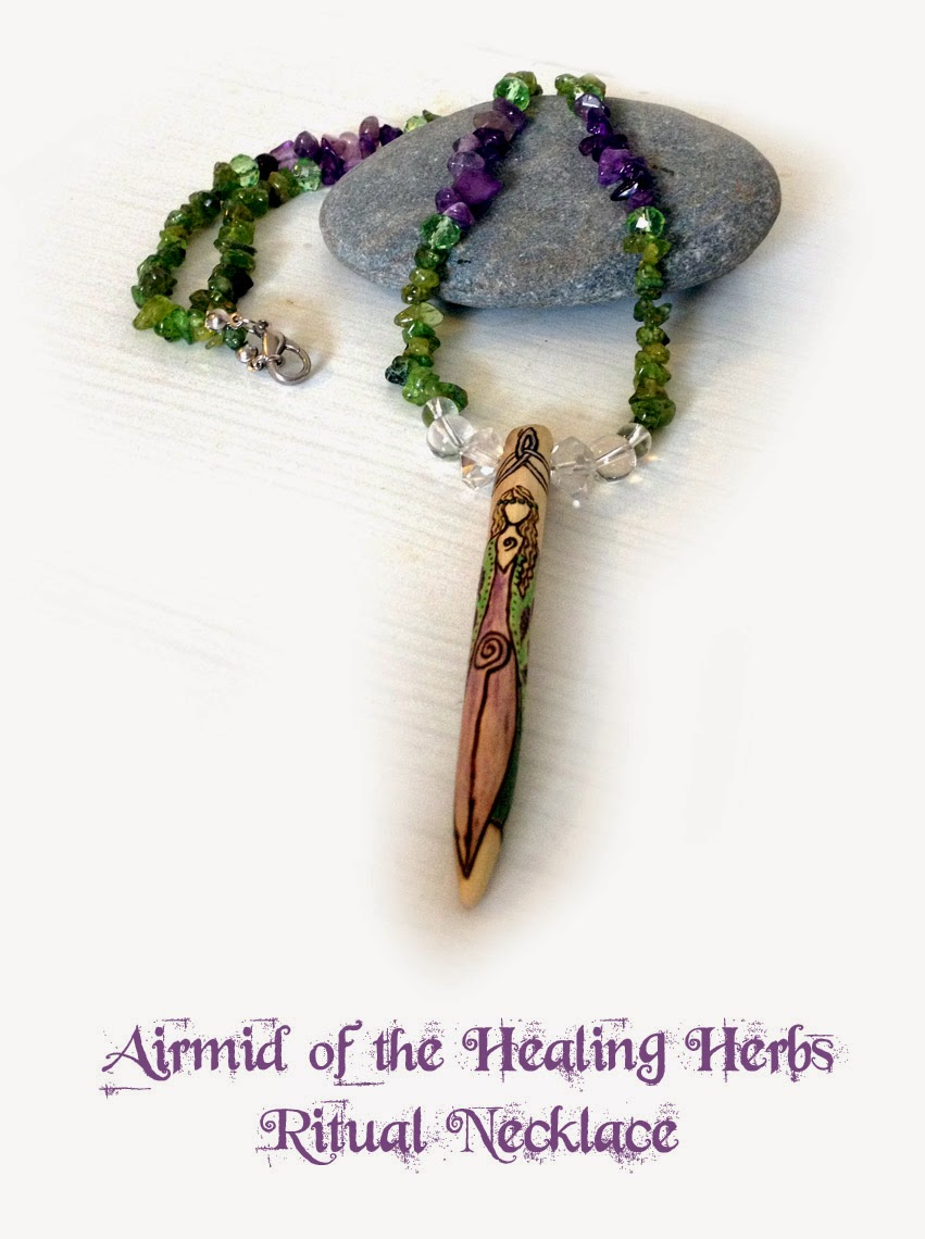 Airmid of the Healing Herbs Ritual Necklace from MoonsCrafts
