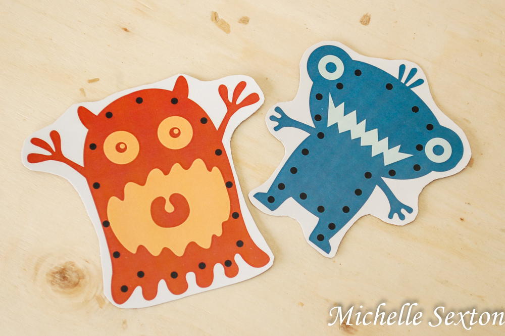 Printable Monster Lacing Cards from SoHeresMyLife.com