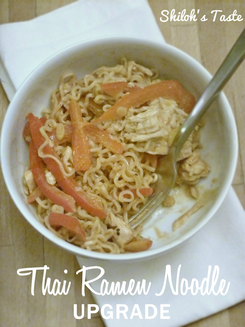 Thai Ramen Noodle Upgrade oh my gah! such an easy weeknight meal and you can easily make this #vegetarian
