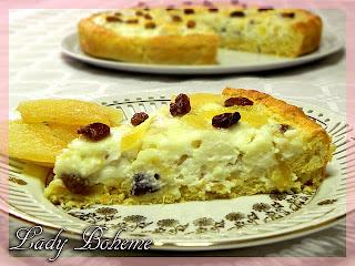 hiperica_lady_boheme_blog_cucina_ricette_gustose_facili_e_veloci_torta_di_ricotta_con_zenzero_uvetta_pinoli