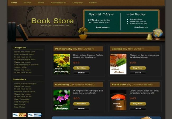 website book store template blog html free download. Black Bedroom Furniture Sets. Home Design Ideas