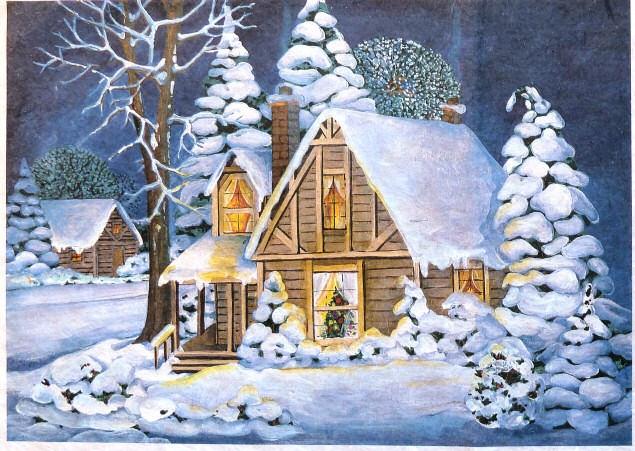 Studiamando liberamente acquerelli e matite for Disegno paesaggio invernale
