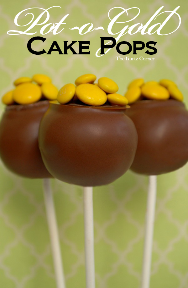 St. Patrick's Day Pot of Gold Cake Pops