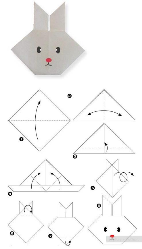 Новогодние оригами не сложные