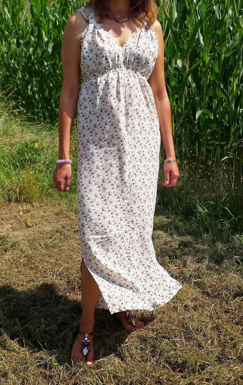 Extrem Summer Chic - Maxi Dress Bettinael.Passion.Couture.Made in france SM82