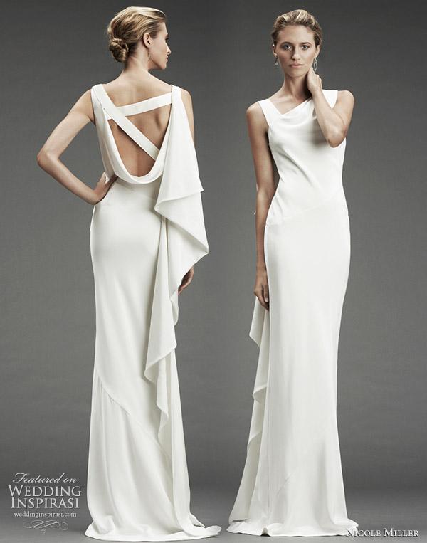 Bridal dresses uk wedding dresses with asymmetrical necklines for Different necklines for wedding dresses
