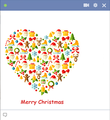 Christmas heart Facebook icon