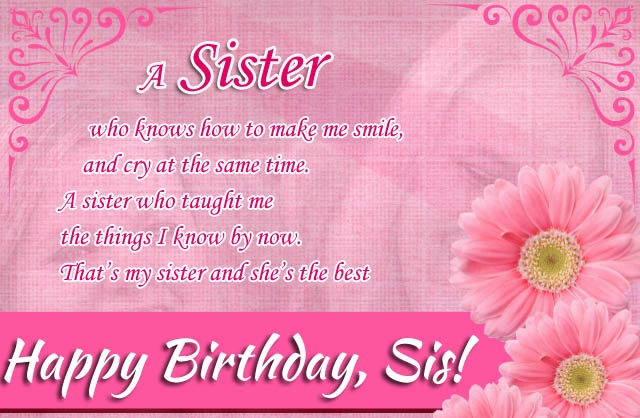 Quotes About Birthday Of Sister : Happy birthday quotes for sister gifts images this