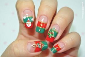 Como fazer decoração de unhas para o natal 2014
