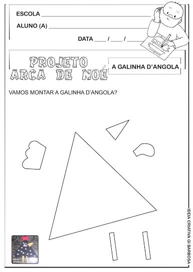 Fazendo Arte Galinha Formas Geométricas Projeto Vinicius de Moraes