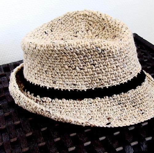 Crochet a Fedora Hat - iKNITS