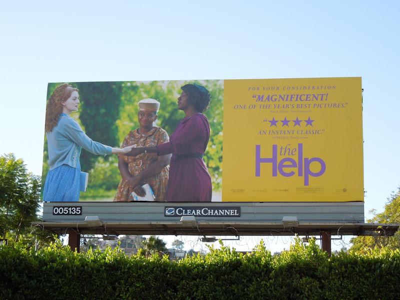 The Help Oscar consideration billboard