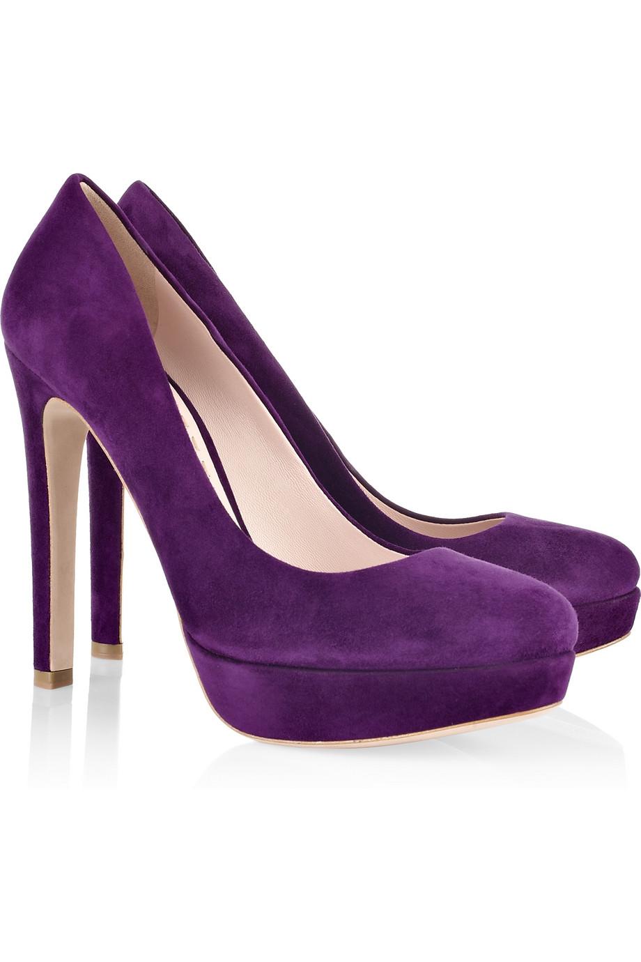 Suede Purple Heels
