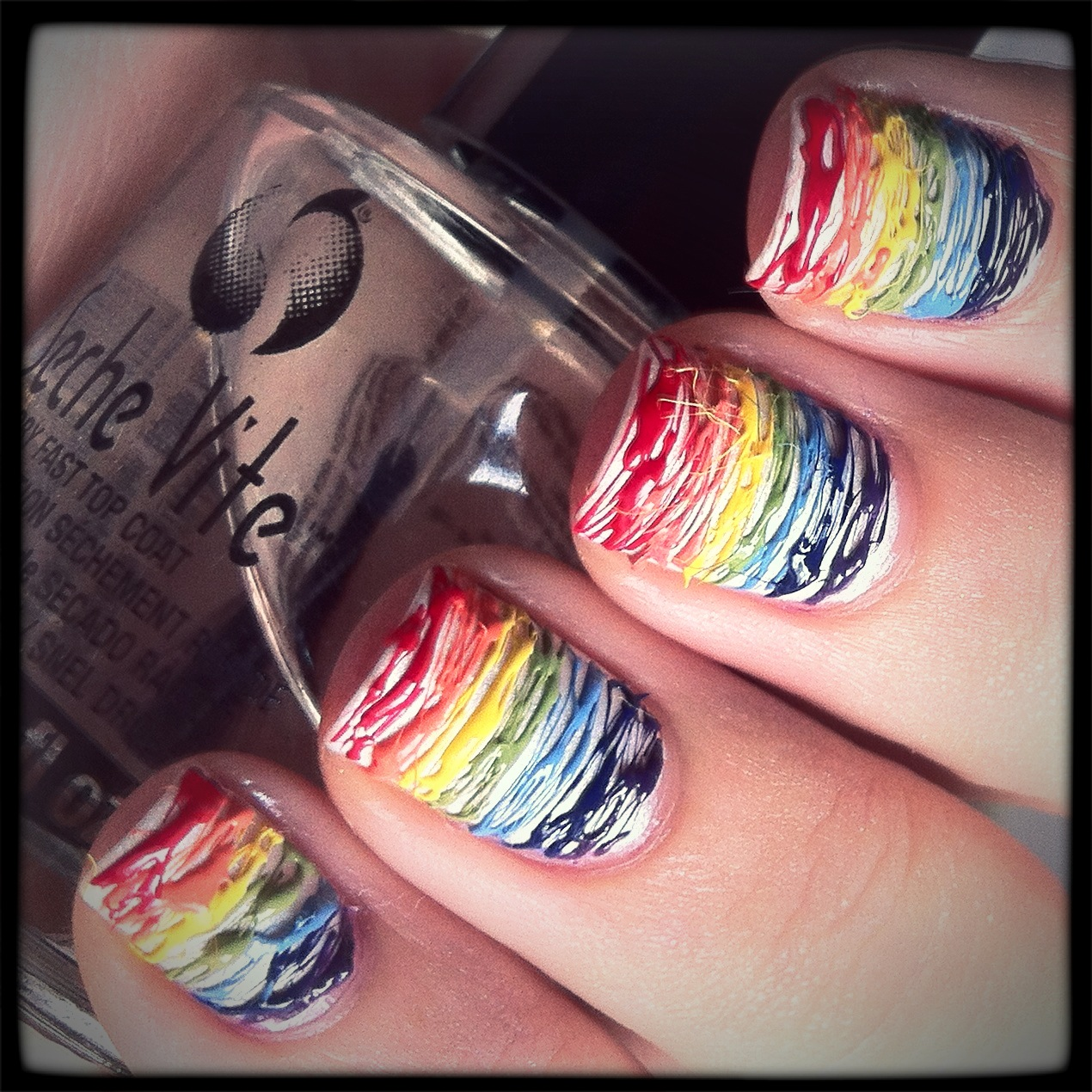 The polish well nail ideas rainbow stripes you can find me on instagram thepolishwell solutioingenieria Gallery