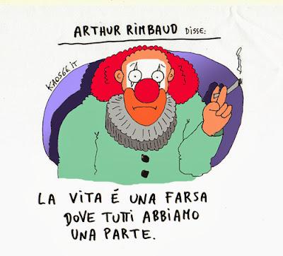 Vignetta aforisma - La vita è una farsa.