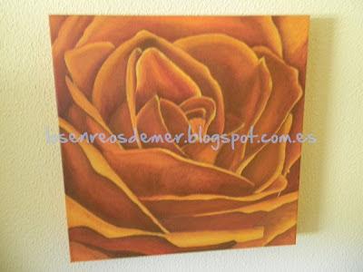 Rosa naranja - Óleo sobre lienzo