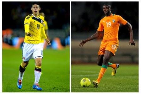 Colombia vs. Côte d'Ivoire Live 2014