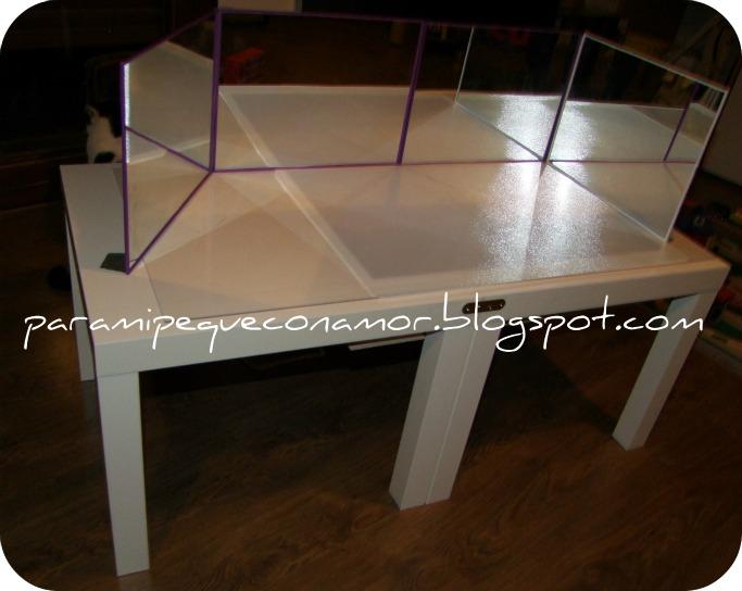 Para mi peque con amor mesa y o caja de luz materiales for Espejos para mesa