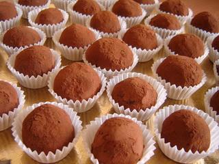 tartufi al cioccolato...si capisce che lo amo???