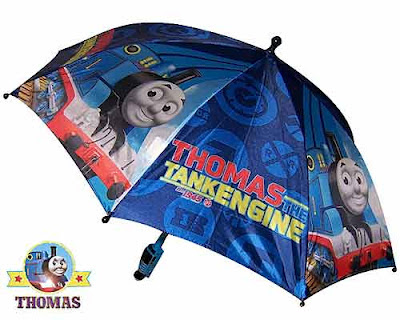 Boy's birthday present decorative theme matching kid's outdoor wet gear Thomas and friends raincoats