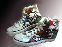 Sepatu Lukis Tengkorakr joe 205 Cowok,sepatu lukis,sepatu lukis ornamen