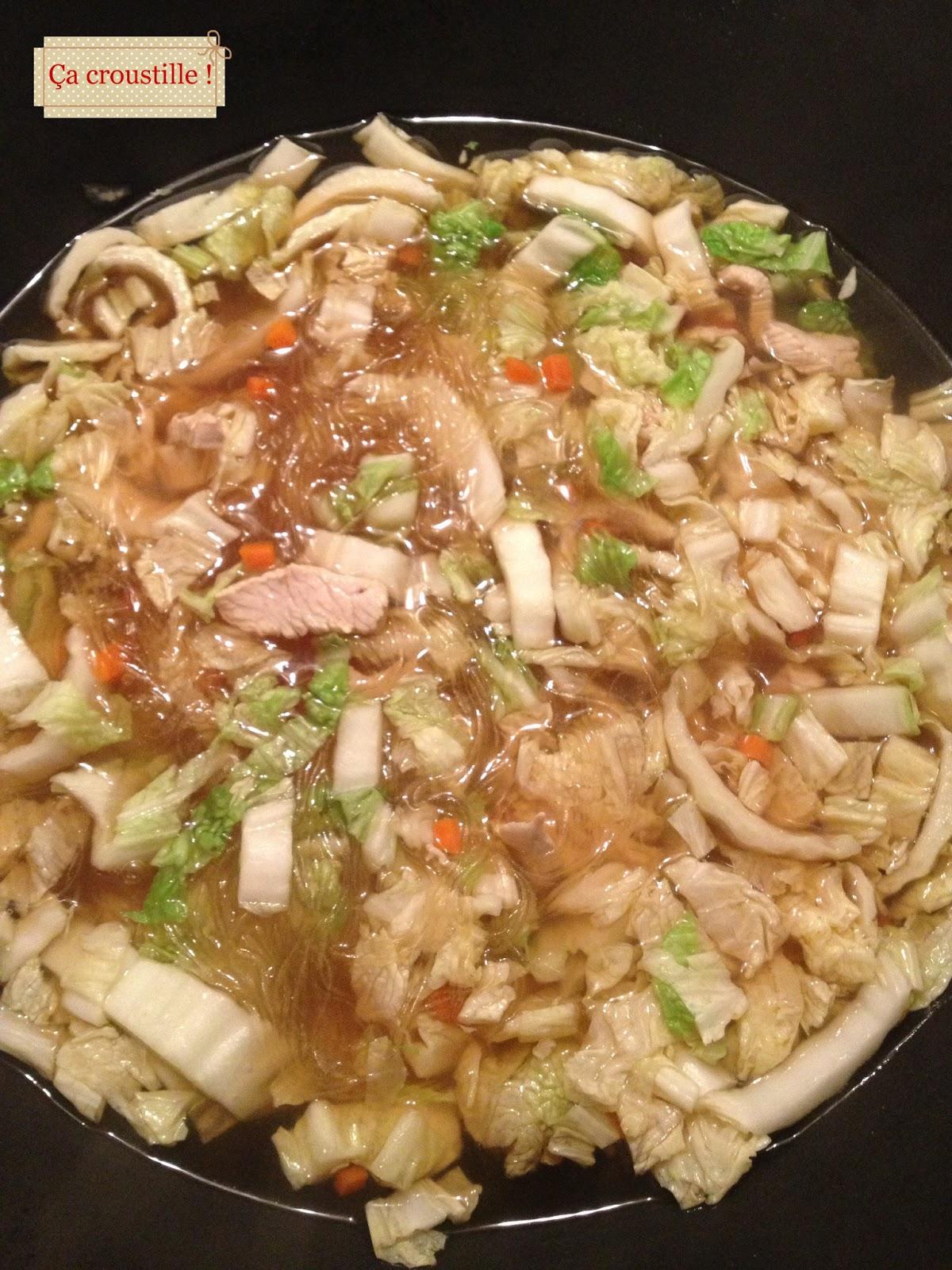 Ca Croustille Soupe Croquante Au Chou Chinois Et Vermicelles
