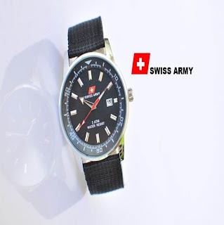 jam tangan keren SWISS ARMY SA6200 BLACK