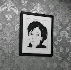 Retrato de AP a la venta (grafito y tinta sobre papel Canson), del artista José Miguel Rojas.