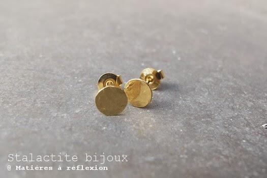 Boucles Stud vermeil Stalactite bijoux