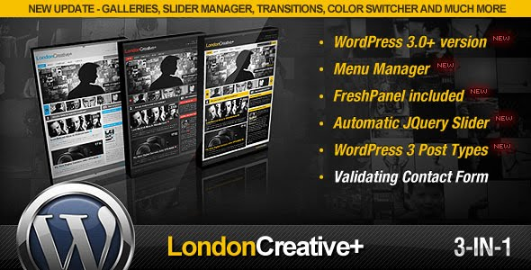 London Creative + WordPress Theme Free Download by ThemeForest.