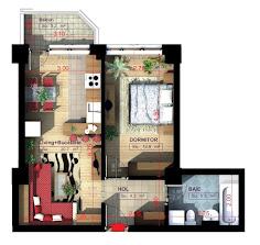 Royal Town Copou - Apartament 2 camere - 46,20 mp