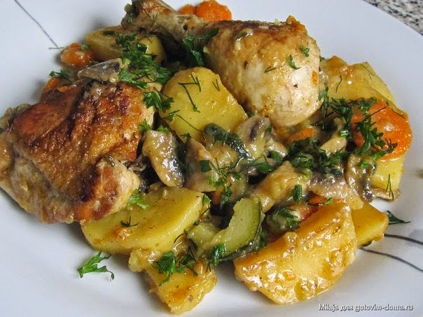 Овощное рагу с куриным филе в мультиварке рецепты