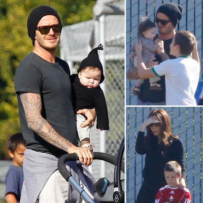 ... GAMBAR) Keluarga Bahagia David dan Victoria Beckham Serta Anak-Anak