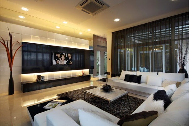 Living Room Design With Modern Televisions