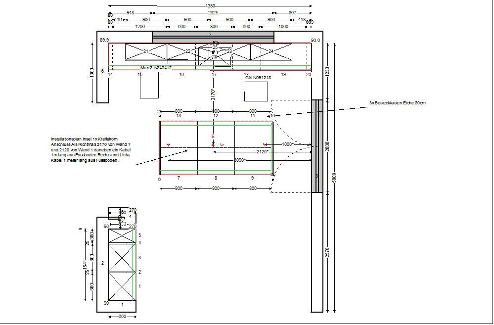 installationsplan k che haus design und m bel ideen. Black Bedroom Furniture Sets. Home Design Ideas