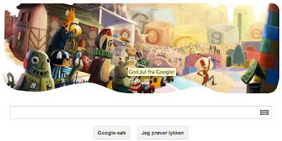 Google Norway Christmas Logo 2012