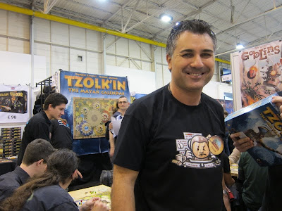 Essen Spiel 2012 Day 3 - The designer of Tzolk'in The Mayan Calendar, Daniele Tascini