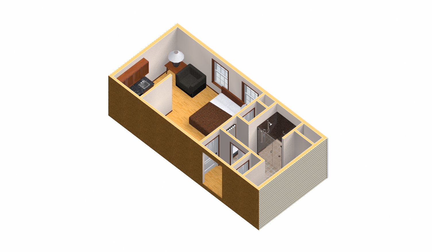 Modular home builder granny pods and assisted living for Modular mother in law suite