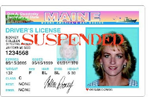 suspended maine driver's license