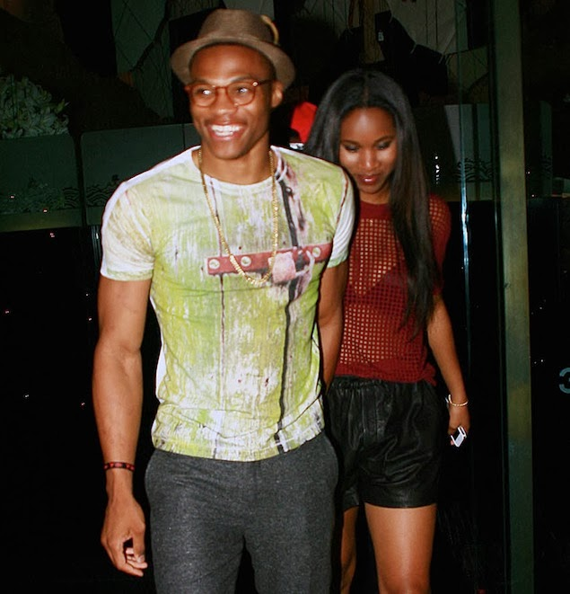 Russell Westbrook With Hot Girlfriend New Pictures 2014